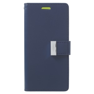 MERCURY GOOSPERY Rich Diary Leather Wallet Mobile Case for Samsung Galaxy S9 G960 - Dark Blue