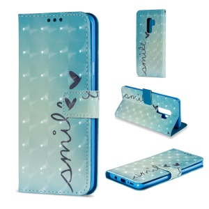 Pattern Printing Leather Wallet Stand Case for Samsung Galaxy S9 Plus - Hearts