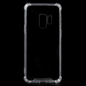 Crystal Clear Acrylic + Flexible TPU Hybrid Phone Case for Samsung Galaxy S9 G960 - Transparent