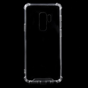Crystal Clear Acrylic + Flexible TPU Hybrid Phone Case for Samsung Galaxy S9+ G965 - Transparent