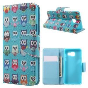 Wallet Leather Protective Case for Samsung Galaxy A3 SM-A310F (2016) - Multiple Owls