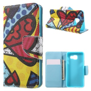 Card Holder Leather Cover for Samsung Galaxy A3 SM-A310F (2016) - Colorized Butterfly