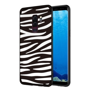 NXE Embossed Patterned Soft TPU Mobile Phone Shell for Samsung Galaxy S9 Plus SM-G965 - Zebra Stripe