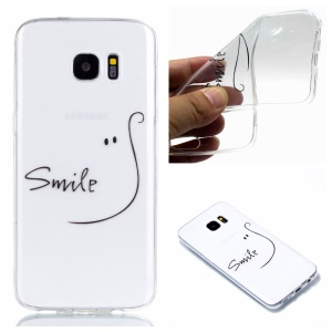 Pattern Printing TPU Mobile Casing for Samsung Galaxy S7 edge SM-G935 - Smile
