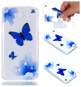 Blue Butterfly and Flower