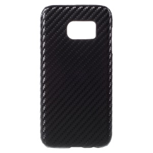 Carbon Fiber Leather Coated Hard Case for Samsung Galaxy S7 - Black