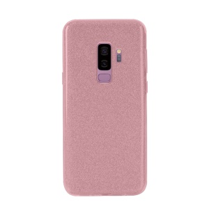 NXE Glittery Powder PC + TPU Combo Case for Samsung Galaxy S9+ SM-G965 - Rose Gold