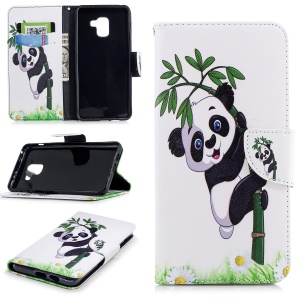 Lovely Panda on Bamboo