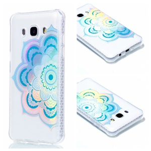 Plating IMD Shockproof TPU Cover for Samsung Galaxy J7 (2016) SM-J710 - Blue Mandala