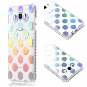 Plating IMD Shockproof TPU Cover for Samsung Galaxy J7 (2016) SM-J710 - Polka Dots