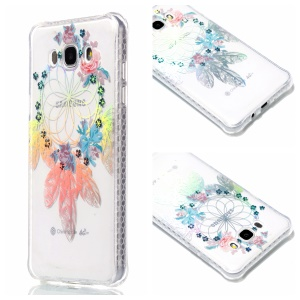 Plating IMD Shockproof TPU Cover for Samsung Galaxy J7 (2016) SM-J710 - Flower Windbell
