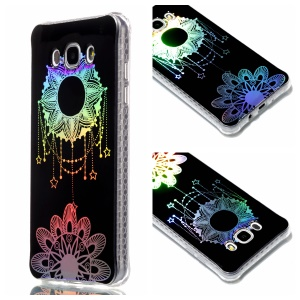 Plating IMD Shockproof TPU Cover for Samsung Galaxy J7 (2016) SM-J710 - Flower Pendant