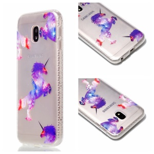 Plated IMD Shockproof TPU Cover for Samsung Galaxy J5 (2017) EU Version / J5 Pro (2017) - Unicorns