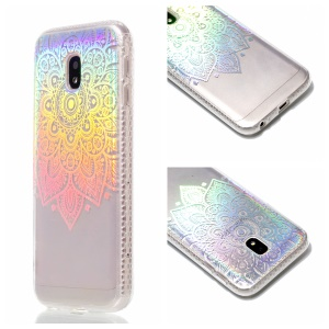 Plated IMD Shockproof TPU Cover for Samsung Galaxy J5 (2017) EU Version / J5 Pro (2017) - Henna Flower