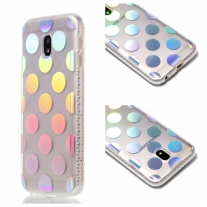 Plated IMD Shockproof TPU Cover for Samsung Galaxy J5 (2017) EU Version / J5 Pro (2017) - Polka Dots