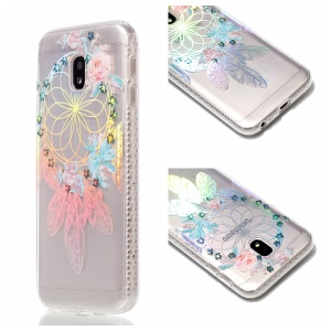 Plated IMD Shockproof TPU Cover for Samsung Galaxy J5 (2017) EU Version / J5 Pro (2017) - Flower Windbell