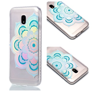 Plated IMD Shockproof TPU Cover for Samsung Galaxy J5 (2017) EU Version / J5 Pro (2017) - Blue Mandala