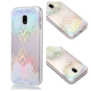 Plated IMD Shockproof TPU Cover for Samsung Galaxy J5 (2017) EU Version / J5 Pro (2017) - Colorized Flower