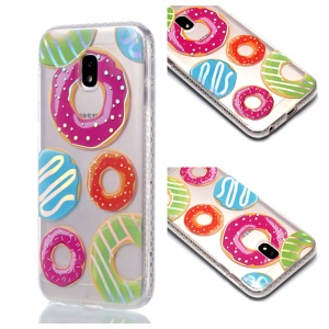 Plated IMD Shockproof TPU Cover for Samsung Galaxy J5 (2017) EU Version / J5 Pro (2017) - Doughnuts