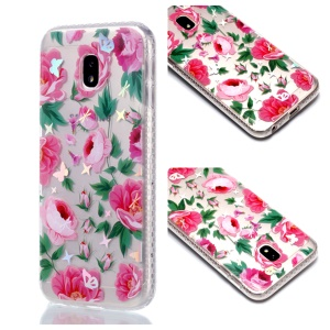Plated IMD Shockproof TPU Cover for Samsung Galaxy J5 (2017) EU Version / J5 Pro (2017) - Beautiful Blossom