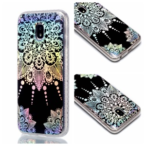 Plated IMD Shockproof TPU Cover for Samsung Galaxy J5 (2017) EU Version / J5 Pro (2017) - Mandala Flower