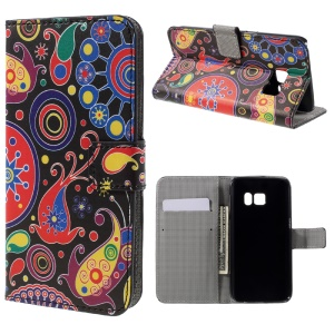 Wallet Leather Case for Samsung Galaxy S7 - Paisley Flowers