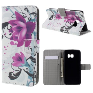 Wallet Leather Flip Cover for Samsung Galaxy S7 - Kapok Flowers