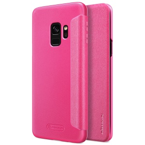 NILLKIN Sparkle Series Flip Leather Phone Cover for Samsung Galaxy S9 SM-G960 - Rose