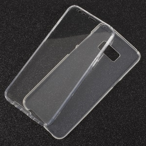 Touchable Acrylic TPU Hybrid Front + Soft TPU Hybrid Mobile Cover for Samsung Galaxy S8 Plus G955 - Transparent