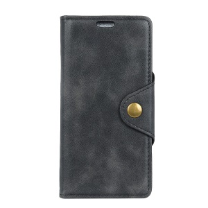Textured PU Leather Wallet Phone Case Shell with Stand for Samsung Galaxy J7 Pro (2017) / J7 (2017) EU Version - Black