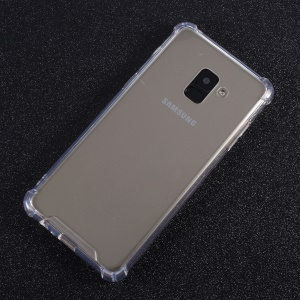 Drop-resistant Crystal Clear Acrylic + TPU Hybrid Phone Case for Samsung Galaxy A8 (2018)