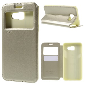 ROAR KOREA Window Leather Case for Samsung A5 SM-A510F (2016) - Champagne