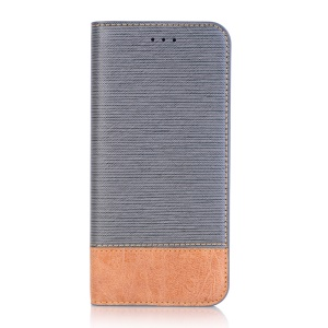 Toothpick Texture Flip Leather Wallet Case with Stand for Samsung Galaxy S9+ SM-G965 - Grey