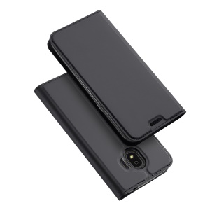 DUX DUCIS Skin Pro Series Leather Stand Case for Samsung Galaxy J2 Pro 2018 - Grey