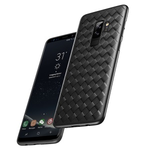 BASEUS BV Woven Texture Soft TPU Phone Casing for Samsung Galaxy S9+ SM-G965 - Black