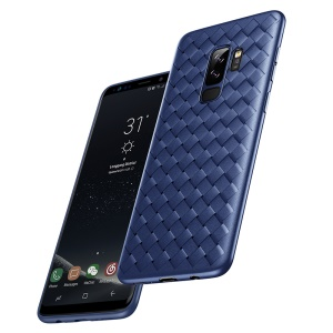 BASEUS BV Woven Texture Soft TPU Mobile Phone Cover for Samsung Galaxy S9 Plus SM-G965 - Blue