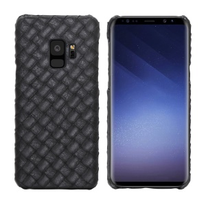 Woven Pattern Leather Coated Hard Plastic Case for Samsung Galaxy S9 SM-G960
