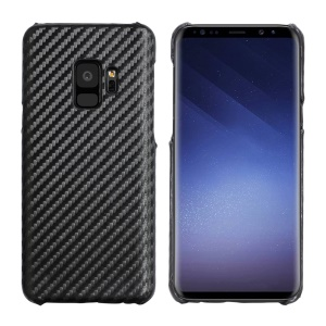 Carbon Fibre Leather Coated Hard Shell Case for Samsung Galaxy S9 SM-G960
