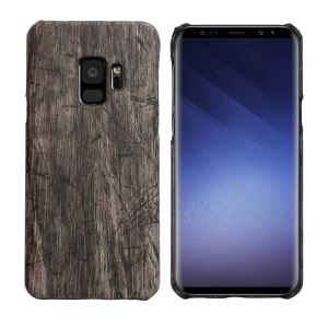 Wood Grain Leather Coated Hard Cover Case for Samsung Galaxy S9 SM-G960