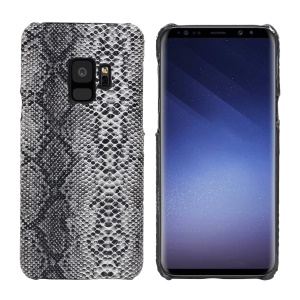 Snake Skin Leather Coated Hard Cell Phone Case for Samsung Galaxy S9 SM-G960