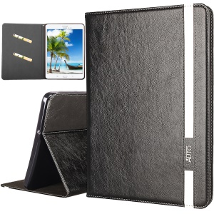 Business Style Auto-wake/sleep PU Leather Case with Card Slots for Samsung Galaxy Tab E 8.0 T375 - Black