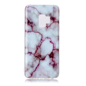 For Samsung Galaxy S9 G960 Marble Pattern IMD TPU Mobile Phone Cover - Purple