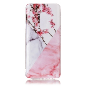 White/Pink Marble and Flowers