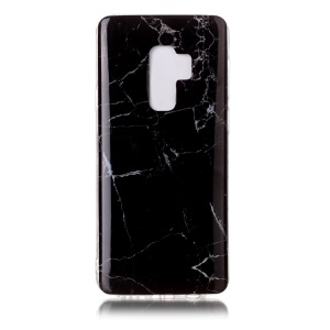 IMD Patterned TPU Gel Cover Case for Samsung Galaxy S9 Plus G965 - Black Marble