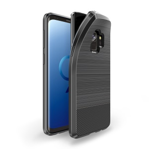 DUX DUCIS S Series Carbon Fiber Texture Brushed TPU Back Case for Samsung Galaxy S9 SM-G960 - Black