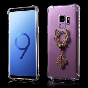 Air Cushion Shockproof TPU Case with Diamante Elk for Samsung Galaxy S9 G960