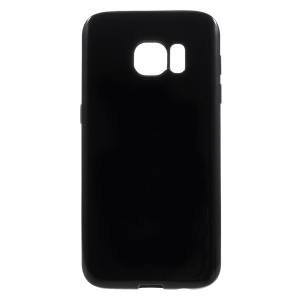 Solid Color TPU Case for Samsung Galaxy S7 - Black