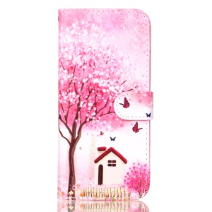 Flowered Tree and House