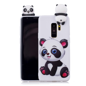 3D Cute Doll Pattern Printing TPU Shell Cover Case for Samsung Galaxy S9+ SM-G965 - Adorable Panda