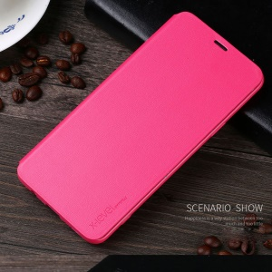 X-LEVEL Folio Flip Leather Cover with Stand for Samsung Galaxy S9+ SM-G965 - Rose